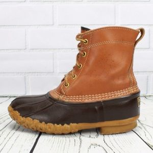 """VTG LL BEAN 8"""" Thinsulate Lined Duck Boots Size 7"""